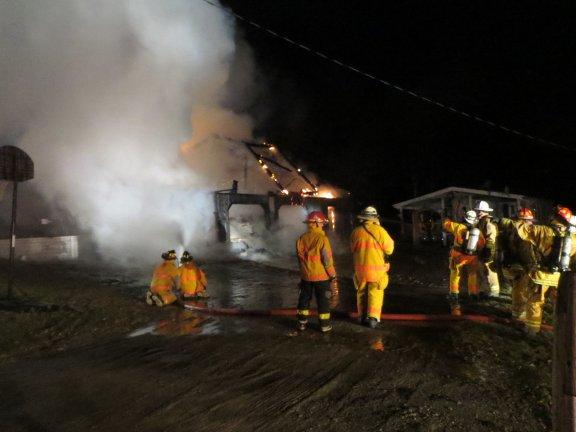 Brown Rd. Garage Fire