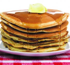 pancake breakfast butter syrup IMAGE_0